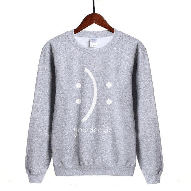 Women Sweatshirt You Decide Print Sweatshirt-Women Sweatshirt-LeStyleParfait.Com