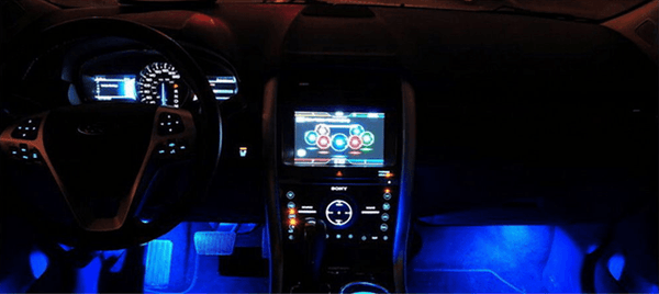 Blue LED interior decorative mood & ambient lighting kit, 12-volts