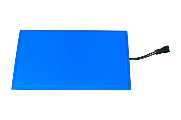 "Blank EL (electroluminescent) light panel: 4"" x 6"" blue"