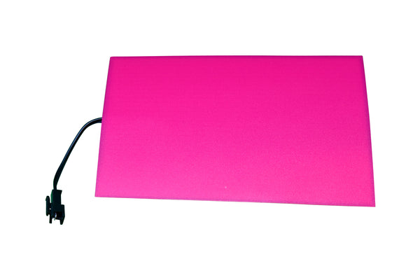 "Blank EL (electroluminescent) light panel: 4"" x 6"" red"