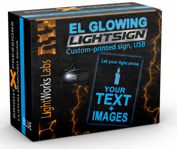 "Blank EL (electroluminescent) light panel: 5"" x 5"" white"