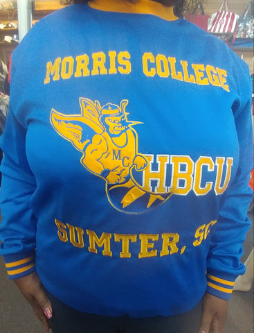Morris College Embroidered  sweat shirt