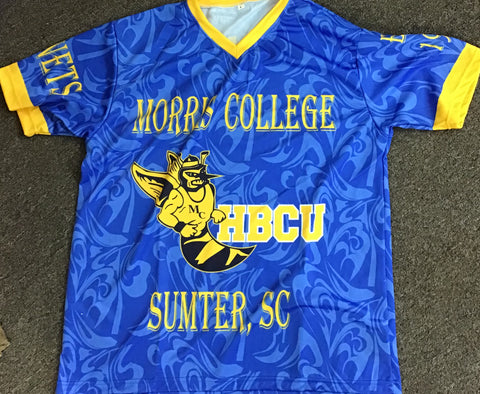 Morris College Allover Print Shirt