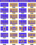 Omega Psi Phi Mirror Car Tag