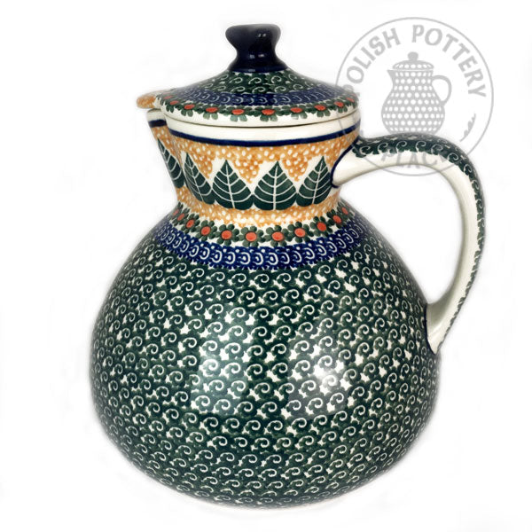Large Coffee Pot - Polish Pottery