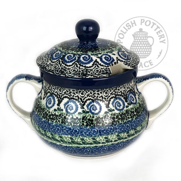 Large Sugar Bowl  - Polish Pottery