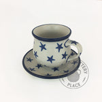 Demitasse Cup and Saucer - Polish Pottery