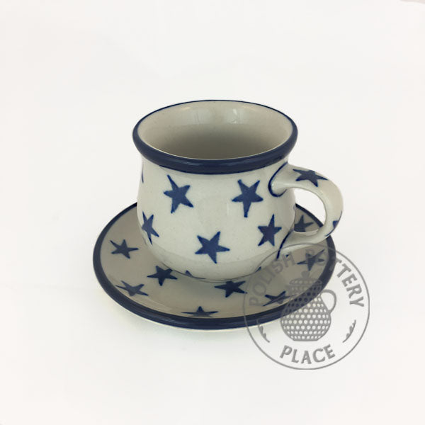 Demitasse Cpup and Saucer - Polish Pottery