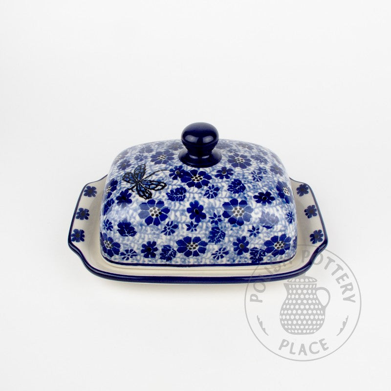 Large Butter Dish - Dragonfly