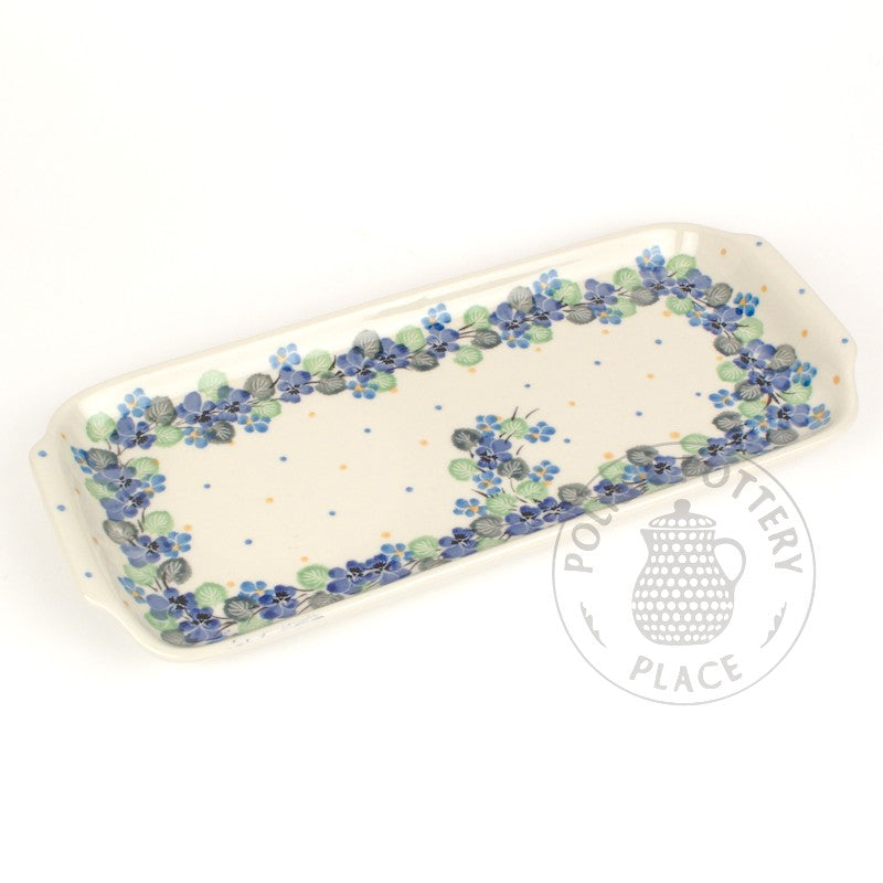 Rectangular Handled Tray - Polish Pottery