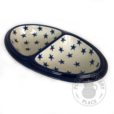Small Divider Dish - Polish Pottery