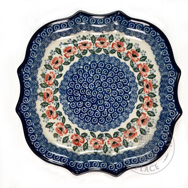 "Decorative Plate - 10.5"" - Polish Pottery"