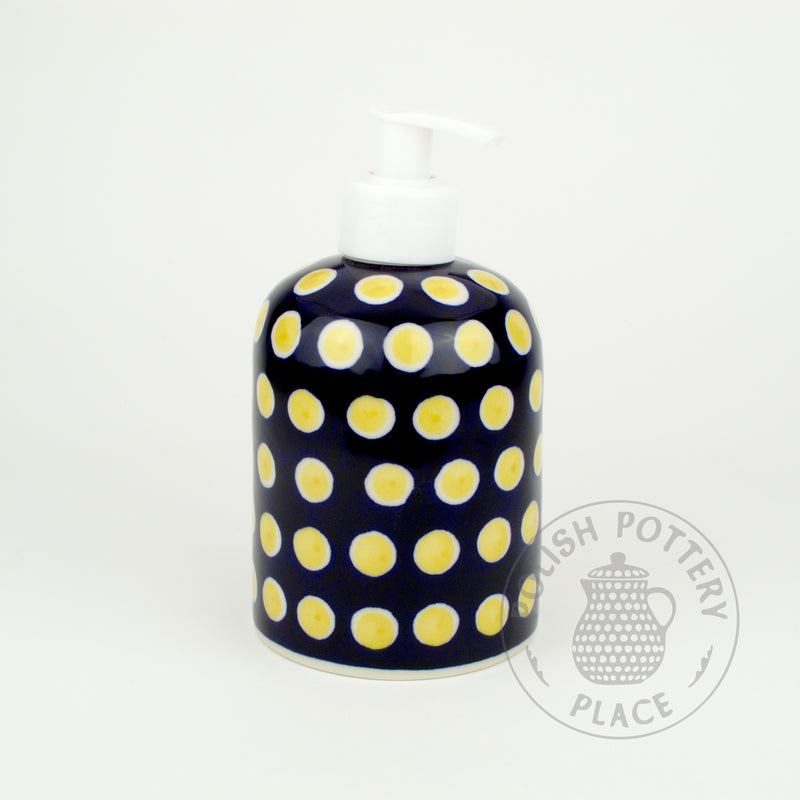 Soap Dispenser - Yellow Dots