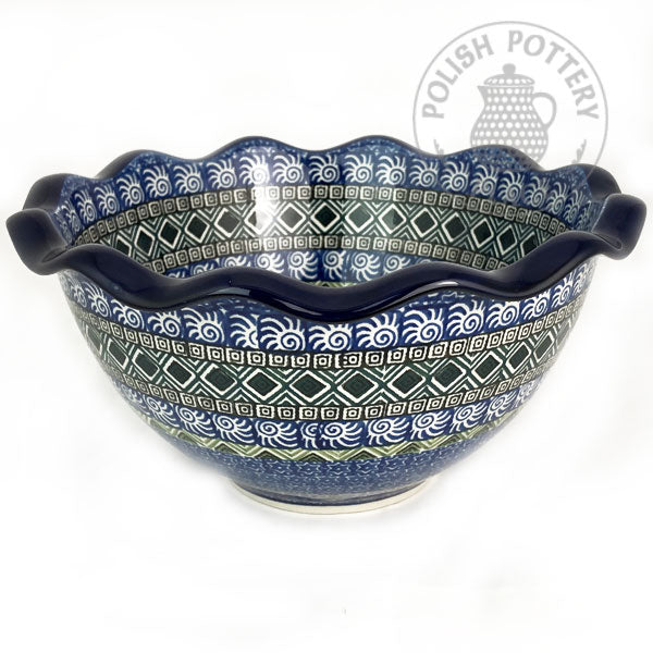 Fluted Bowl - Polish Pottery