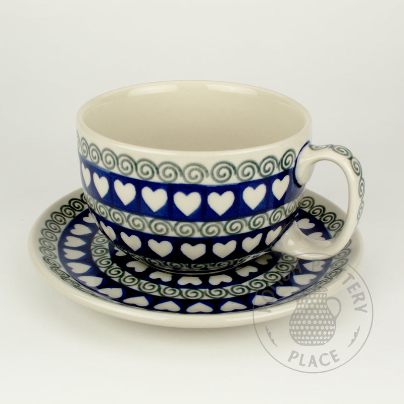 Cup & Saucer Set - Fern Hearts