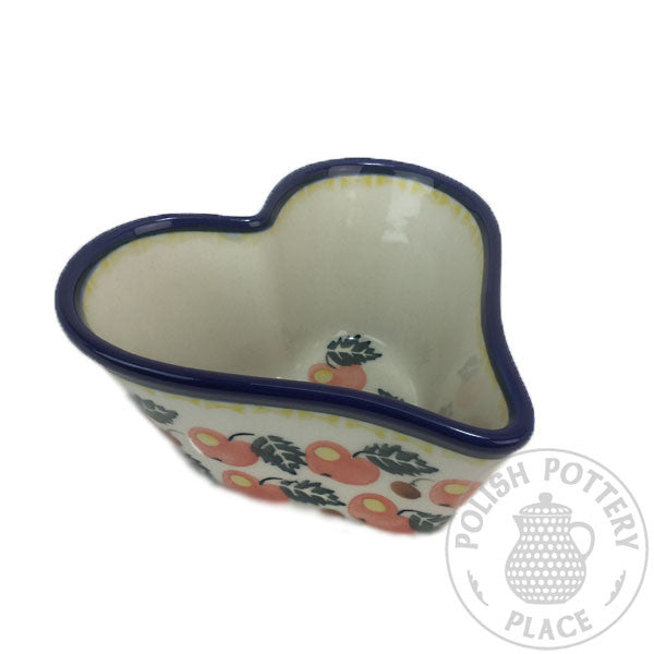 Deep Heart Dish - Polish Pottery