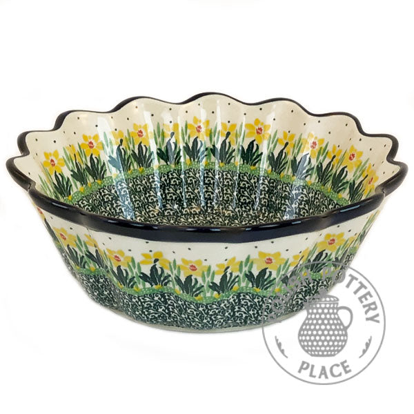 Fluted Scallop Bowl - Polish Pottery