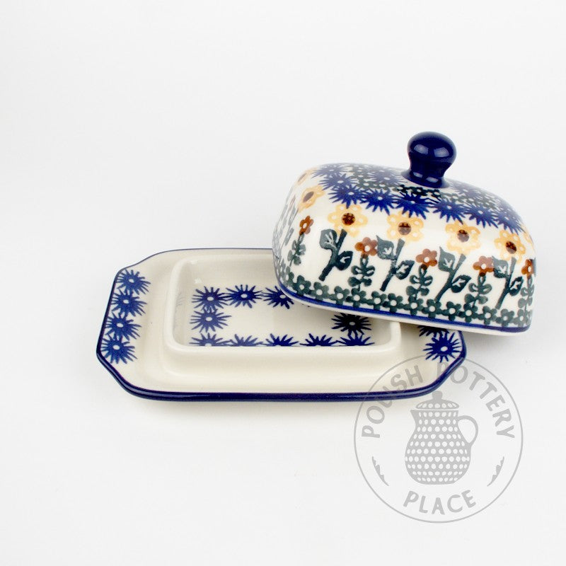 Small Butter Dish - Sunflowers