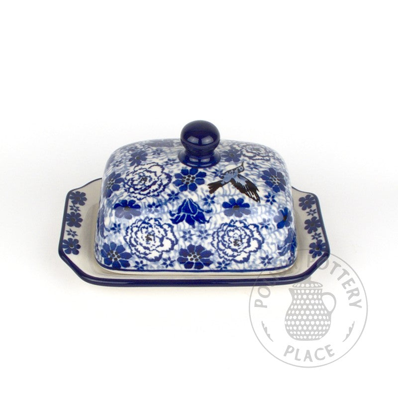 Small Butter Dish - Hummingbird