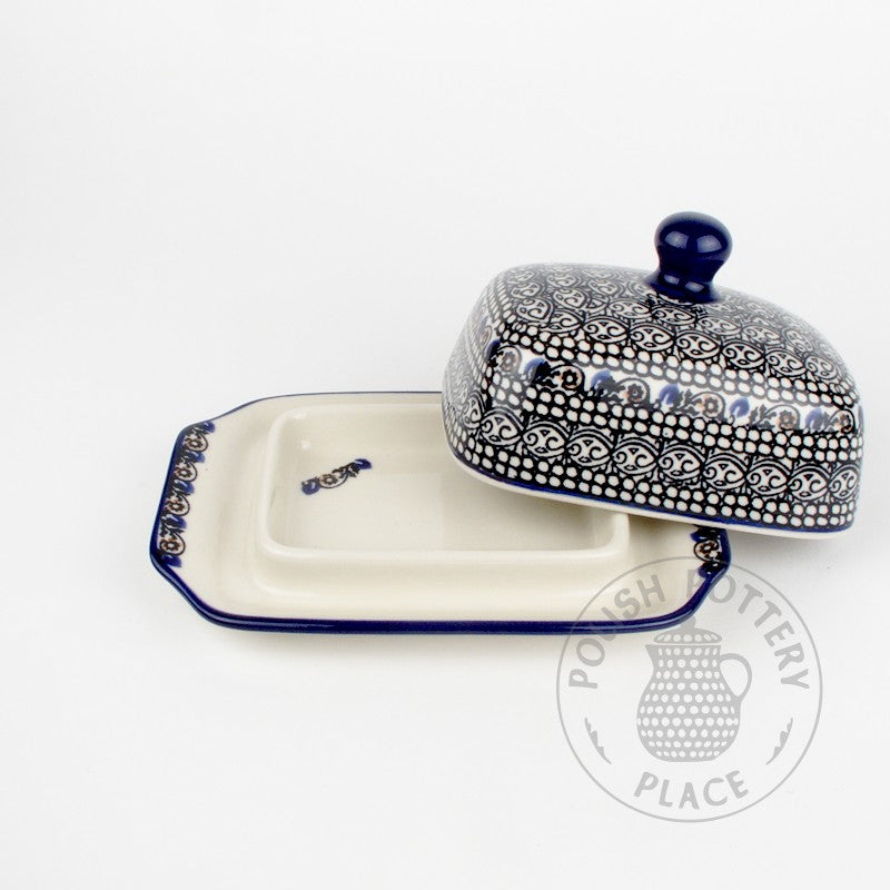 Small Butter Dish - Black Lace