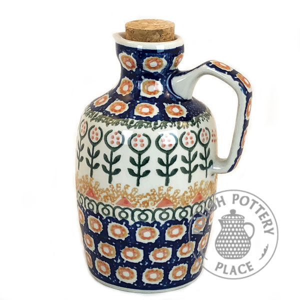 Olive Oil Bottle - Polish Pottery