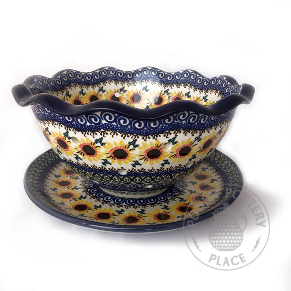 Fluted Colander - Polish Pottery