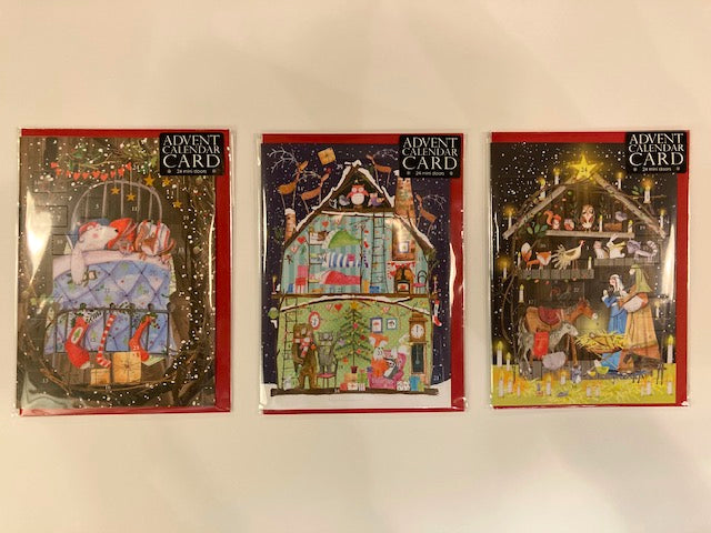 Three Advent Calendar Christmas Cards