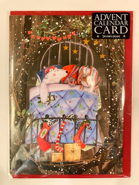 Big Bed advent calendar christmas card