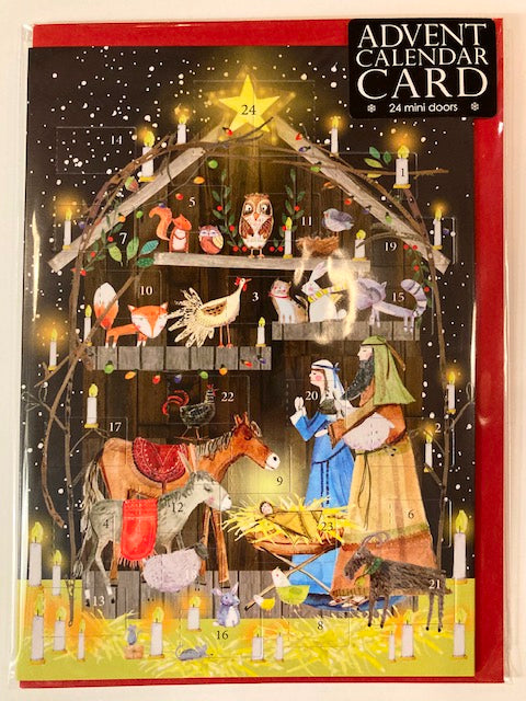 Nativity scene advent calendar christmas calendar