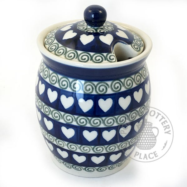Large Honey Jar - Polish Pottery