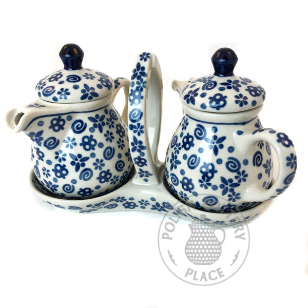 Oil & Vinegar Set - Polish Pottery