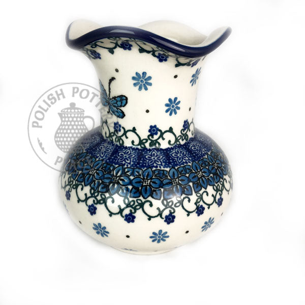 Fluted Neck Vase - Polish Pottery