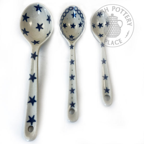 Large, Medium, Small Spoon Set - Polish Pottery
