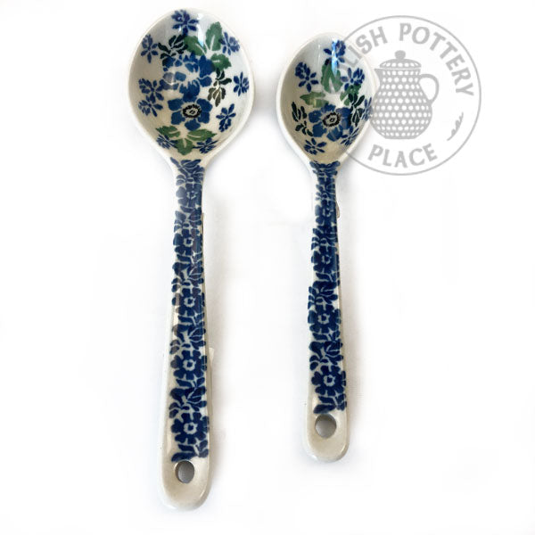 Large and Medium Spoon Set - Polish Pottery