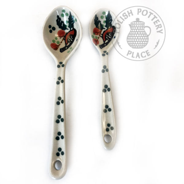 Medium and Small Spoon Set - Polish Pottery
