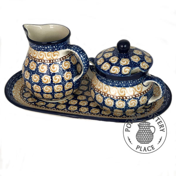 Large Sugar & Creamer Set - Polish Pottery
