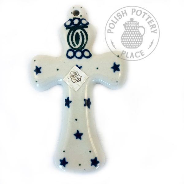 Medium Wall Hanging Cross - Polish Pottery