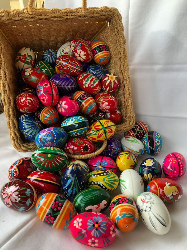 Hand-painted Wooden Eggs