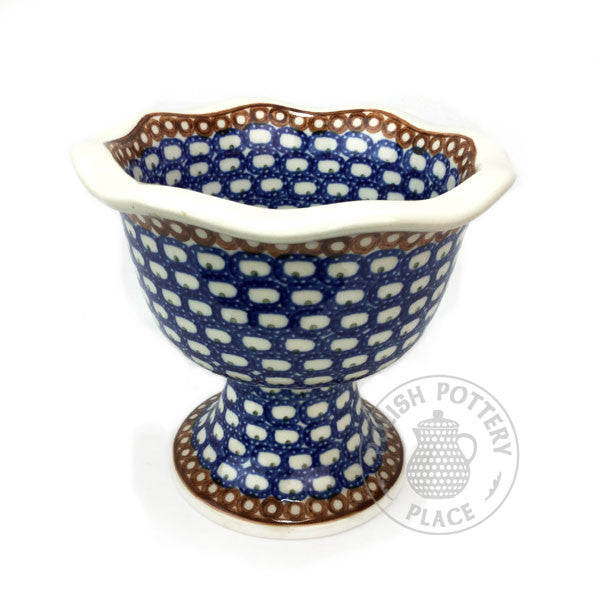 Tall Dessert Bowl - Polish Pottery