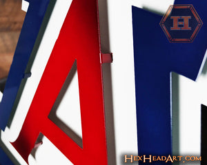 "Arizona Wildcats  ""A"" 3D Artwork 21"" x 19"""