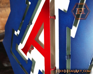 "Up close image of an Arizona Wildcats ""A"" on the State 21"" x 18"""