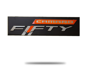 Chevrolet Camaro Fifty Logo Metal Artwork