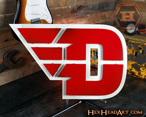 "Dayton Flyers ""Flying D"" Metal Artwork 26"" x 16.5"""