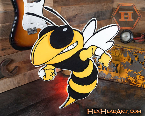 "Georgia Tech ""Buzz"" Mascot 3D Metal Artwork"