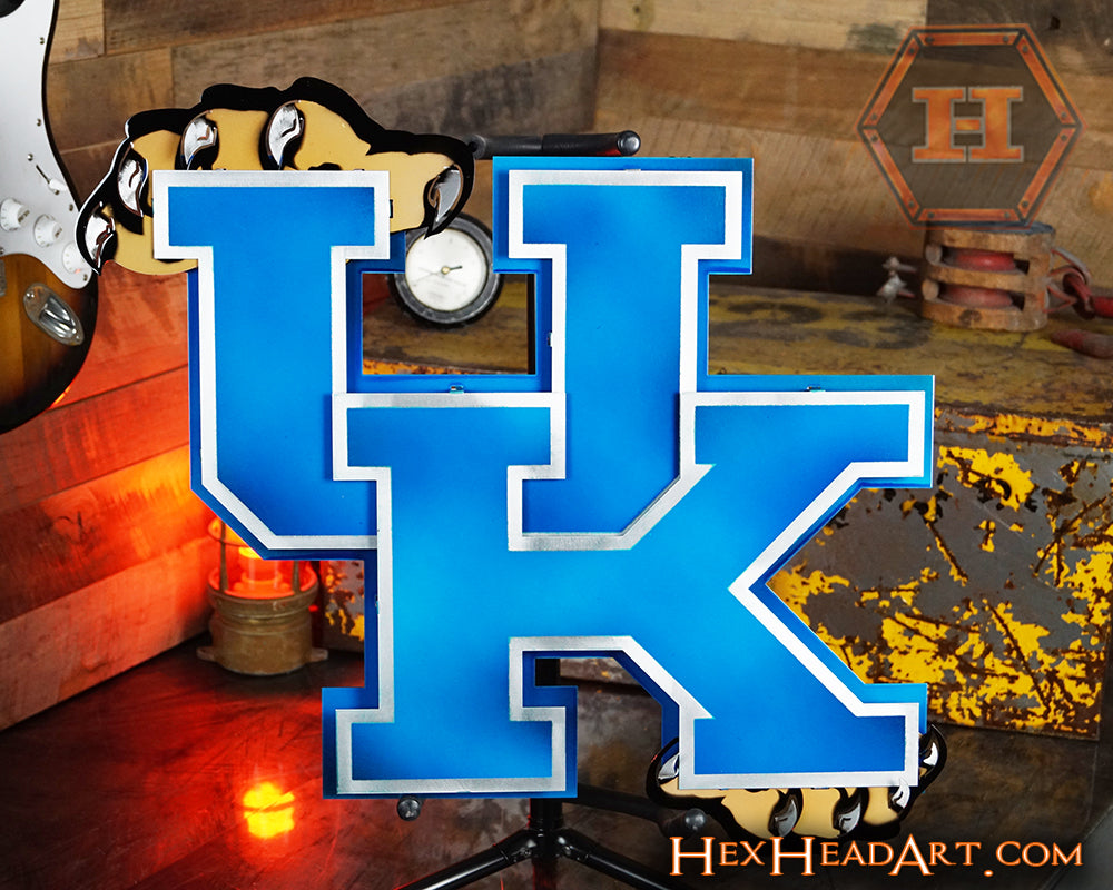 University Of Kentucky: University Of Kentucky Wildcats 3D Vintage Metal Artwork