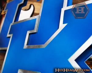 University of Kentucky 3D Vintage Metal Artwork