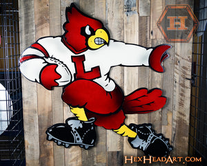 "Louisville Cardinals ""Heisman"" Football Mascot 3D VAULT Artwork 24"" X 24"""