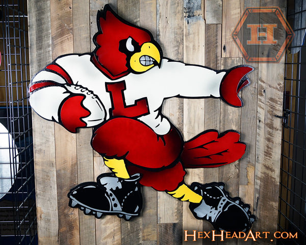 "Louisville ""Heisman"" Football Mascot 3D artwork"