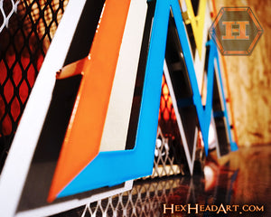Miami Marlins M Logo 3D Metal Artwork CLOSE OUT