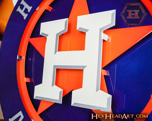 Houston Astros Crest 3D Metal Artwork